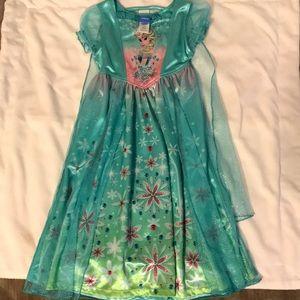 Disney Girls XS Elsa Pajama Dress